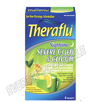 Theraflu Severe Cold & Cough 6 pack Box * Night Time * 3 Boxes